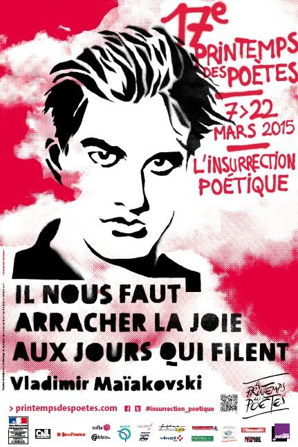 Affiche Printemps des Poètes 2015